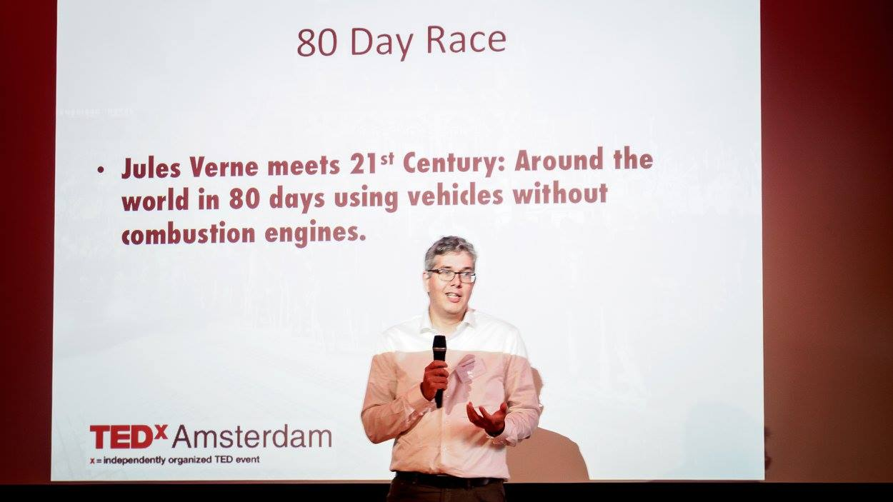 Frank Manders represents 80 Day Race at TEDxAmsterdam